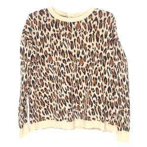 H&M animal print sweater Size M